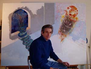 geoff sansbury with painting